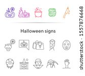 halloween signs line icons....   Shutterstock .eps vector #1557876668