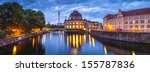 Stock photo pretty night time illuminations of the museum island in berlin germany 155787836