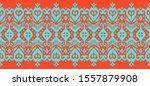 lace border. ikat seamless... | Shutterstock .eps vector #1557879908
