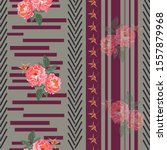 vintage seamless pattern with... | Shutterstock .eps vector #1557879968