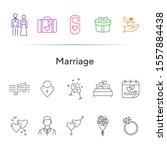 marriage line icons. set of... | Shutterstock .eps vector #1557884438