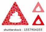 shit danger composition of... | Shutterstock .eps vector #1557904355