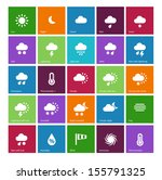 weather icons on color...