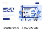 quality contents vector landing ...