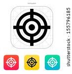 crosshair icon. vector... | Shutterstock .eps vector #155796185