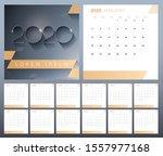 vector 12 month glider calendar ...   Shutterstock .eps vector #1557977168