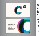 business card template  letter c | Shutterstock .eps vector #155798132