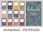 calendar 2020. monthly calendar ... | Shutterstock .eps vector #1557991202