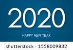 2020 happy new year logo text...   Shutterstock .eps vector #1558009832