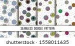 set of seamless grunge dots... | Shutterstock .eps vector #1558011635