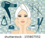 haircut | Shutterstock .eps vector #155807552