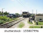 passenger train moving on... | Shutterstock . vector #155807996
