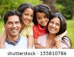 indian family walking in... | Shutterstock . vector #155810786