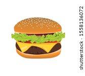 vector hamburger  cheeseburger  ... | Shutterstock .eps vector #1558136072