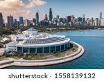 Aerial Drone Image Of Chicago...