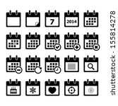 calendar icon | Shutterstock .eps vector #155814278