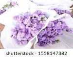 Purple Statice Flower Bouquet ...