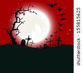 halloween background  ... | Shutterstock .eps vector #155815625