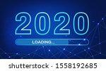 2020 loading. 2020 happy new...   Shutterstock .eps vector #1558192685