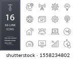 set of 5g icons  such as... | Shutterstock .eps vector #1558234802