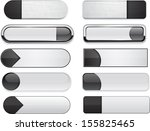 set of blank black buttons for... | Shutterstock .eps vector #155825465