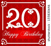 happy birthday card with number ... | Shutterstock . vector #155830646
