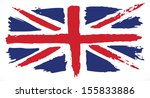 Grunge Uk Flag. Painted Uk Flag