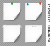 paper white notes and stickers... | Shutterstock .eps vector #1558352525