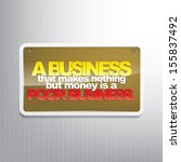 a business that makes nothing...   Shutterstock . vector #155837492