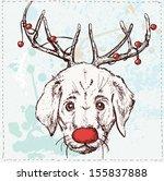 Vector Illustration Of Dog Wit...