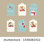 collection of six cute...   Shutterstock . vector #1558382522