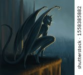 Gargoyle Awakening On The Top...