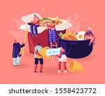 chinese food concept. male and... | Shutterstock .eps vector #1558423772