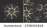 vector illustration set of moon ... | Shutterstock .eps vector #1558431818