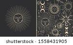 vector illustration set of moon ...   Shutterstock .eps vector #1558431905