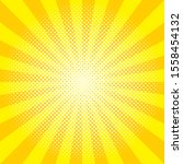 round yellow sunburst vector...   Shutterstock .eps vector #1558454132