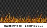 translucent fire flames and... | Shutterstock .eps vector #1558489922