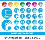 set of multimedia icons.