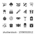 vector set of party flat icons. ... | Shutterstock .eps vector #1558532012