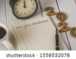 2020 Wooden Text And New Year\'...