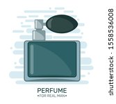 cute poster with male perfume... | Shutterstock .eps vector #1558536008