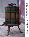 Small photo of Old wring for grape - for making grape juice or wine