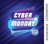 cyber monday sale sticker.... | Shutterstock .eps vector #1558589045
