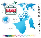 Brunei. Asia. World Map. Travel vector Illustration. - stock vector