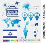 israel. state of israel. flag.... | Shutterstock .eps vector #155860436