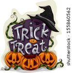 halloween illustration of a... | Shutterstock .eps vector #155860562