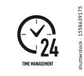 clock vector icon. time vector...
