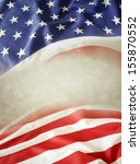 closeup of american flag. copy... | Shutterstock . vector #155870552