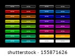 colorful set of web buttons | Shutterstock .eps vector #155871626