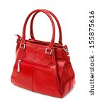 Red Handbag Isolated On White...